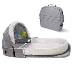 4in1 Super Soft Baby Nest Portable Bassinet Foldable Crib In