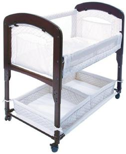 Arm's Reach Cambria Baby Co-Sleeper Bedside Bassinet White/E