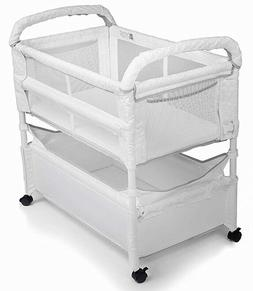 Arm's Reach Clear-Vue Baby Co-Sleeper Bedside Bassinet White