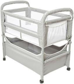 Arm's Reach Clear-Vue Baby Co-Sleeper Bedside Bassinet - Gre