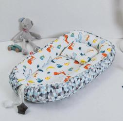 Abreeze Baby Bassinet for Bed Bedside Cribs -Dinosaurs Baby