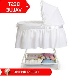 Baby Bassinet Newborn Cradle Portable White Moses Basket Inf