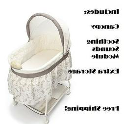 Bedside Bassinet Oval Baby Crib With Mattress And Sheet Crad