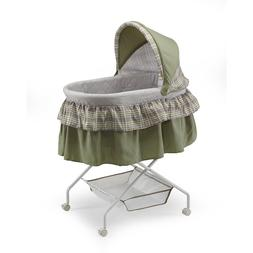 Big Oshi Madison Baby Bassinet with Removable Canopy- Green