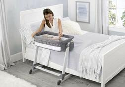 by the bed city sleeper bassinet grey