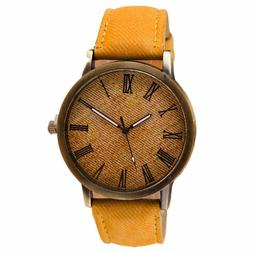 Charberry Mens Watch Retro Vogue Cowboy Leather Band Analog