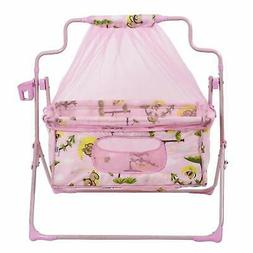 Smart Baby Products Cot-cum-Cradle with mosquito net PINK CO