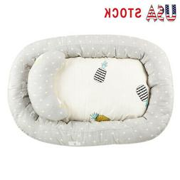 Cotton Baby Bassinet Portable Lounger Bed Newborn Crib Sleep