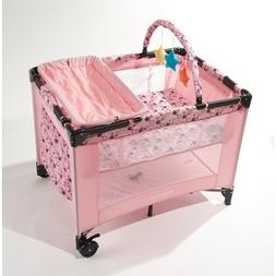 Big Oshi Deluxe Portable Playard - Foldable Nursery with Rem
