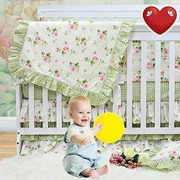 Brandream Floral Crib Bedding Sets with