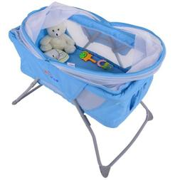 Foldable Lightweight Baby Bassinet Rocking Bed w/ Mosquito N