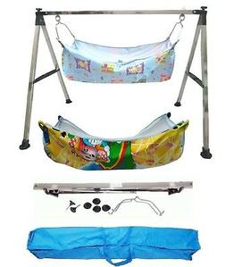 Smart Baby Products Folding Baby Cradle Steel with two units