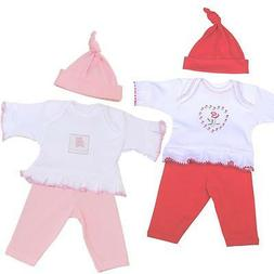 BabyPrem Girls Preemie Tiny Baby Clothes 3 Piece Set Outfit