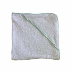 aBaby Infant Hooded Towel, Mint Gingham
