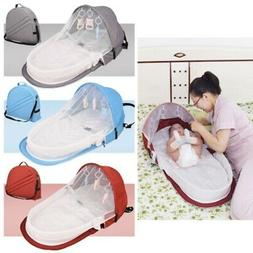 Travel Bassinet Infant Sleeping Basket Foldable Baby Bed Sun