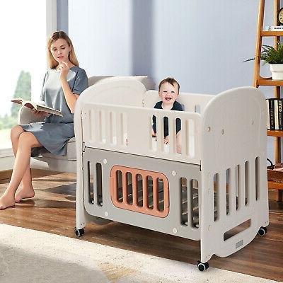 6-in-1 w/ & Space Convertible Playard