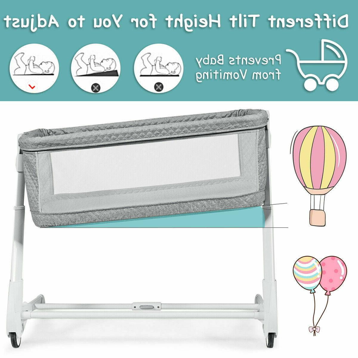 Baby Bassinet Bedside Sleeper Bed Crib With