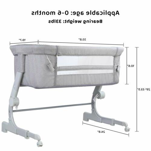Infant Crib Bed with Mattress US