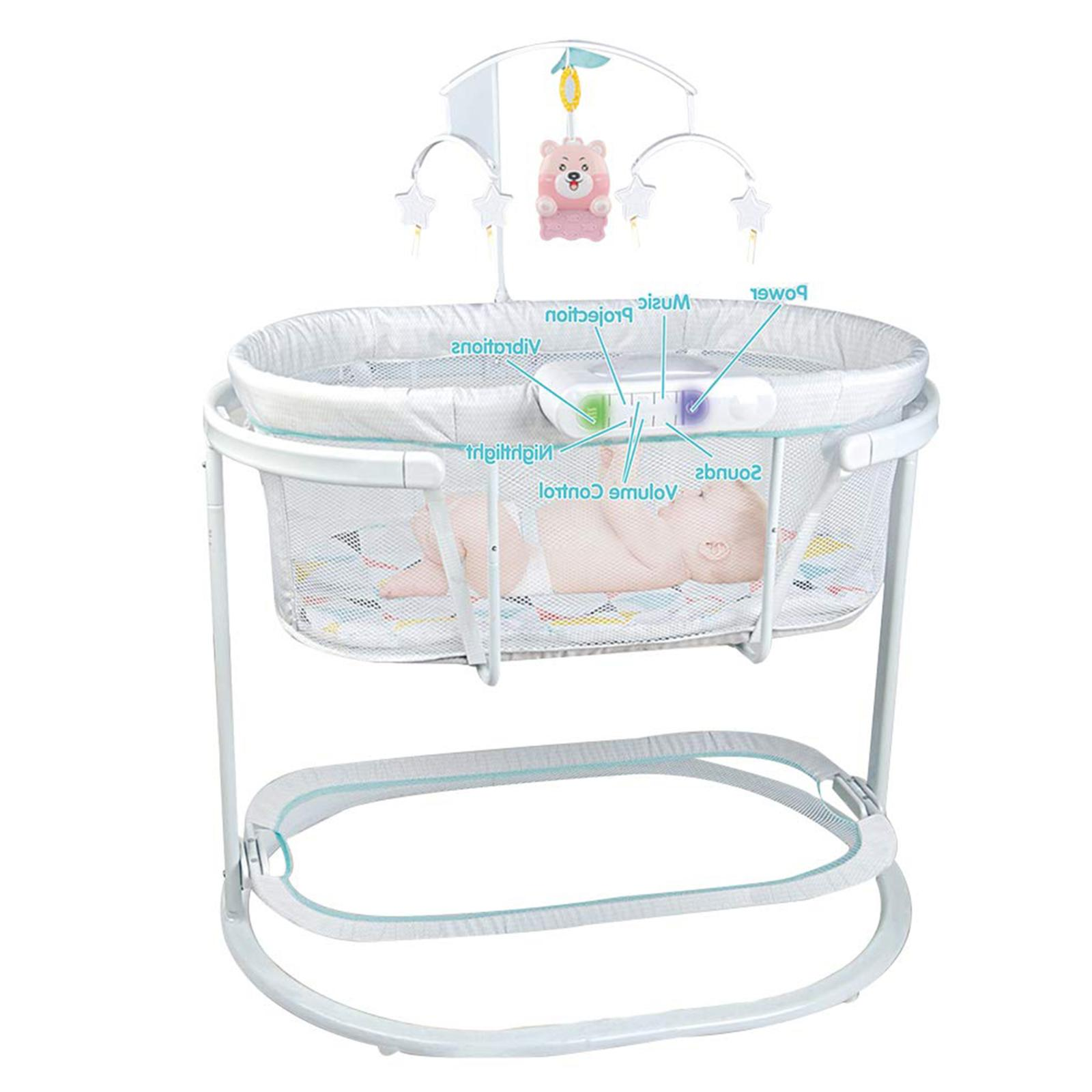 baby bassinet soothing motions newborn infant bedside
