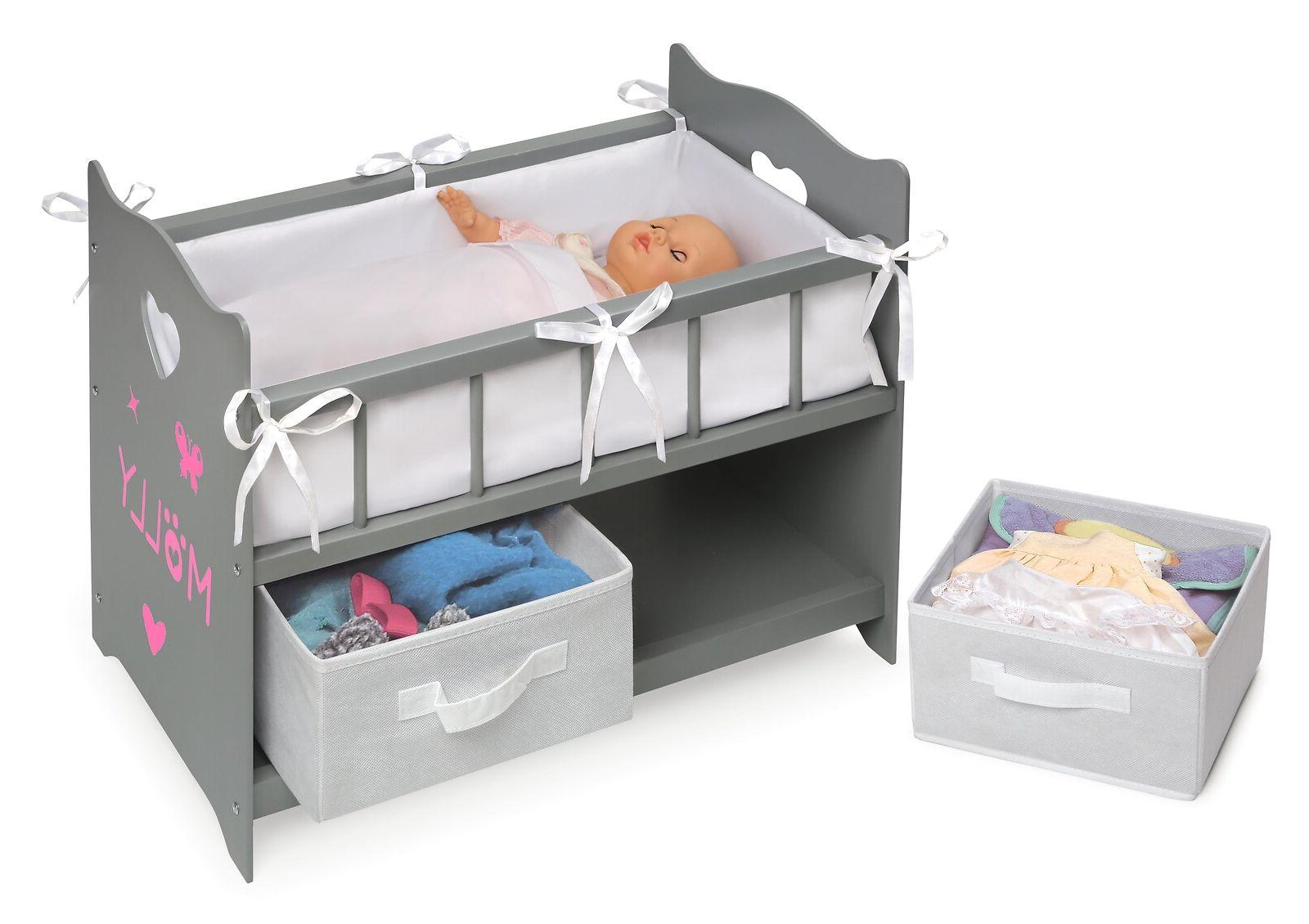 """Baby Doll Bassinet Basket Fits 18"""" Toys Pretend Play"""