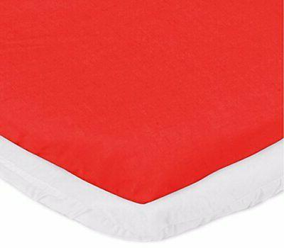 bassinet mattress protector and sheet combo red