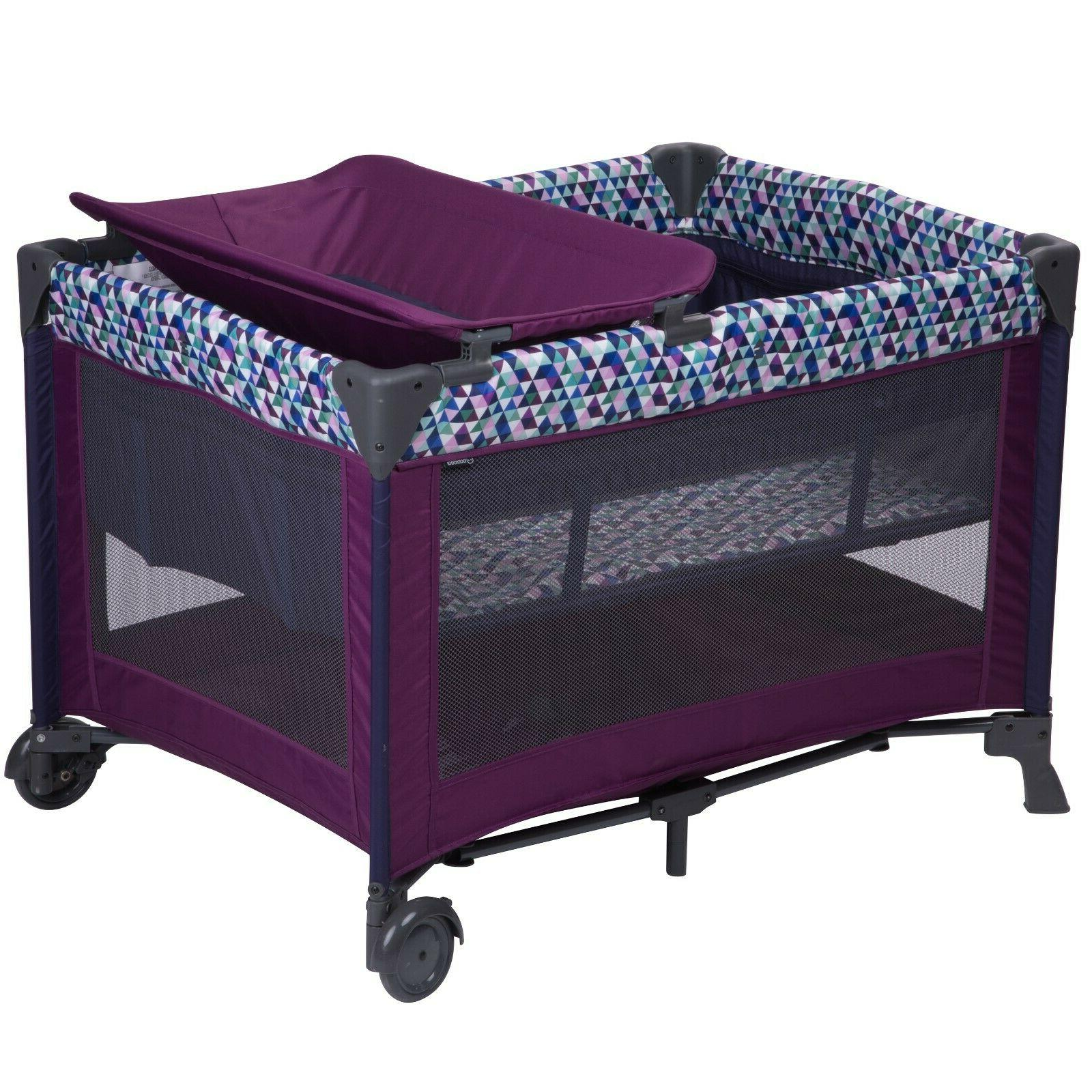 blossom ii playard with bassinet and baby