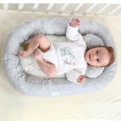 Baby Bassinet Bed Portable Baby Lounger Newborn Crib Breatha