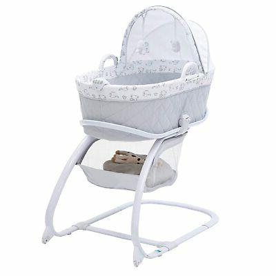 deluxe 2 in 1 moses bedside bassinet