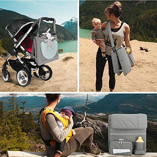Zooawa 3-in-1 Diaper Collapsible Bassinet Travel Changing