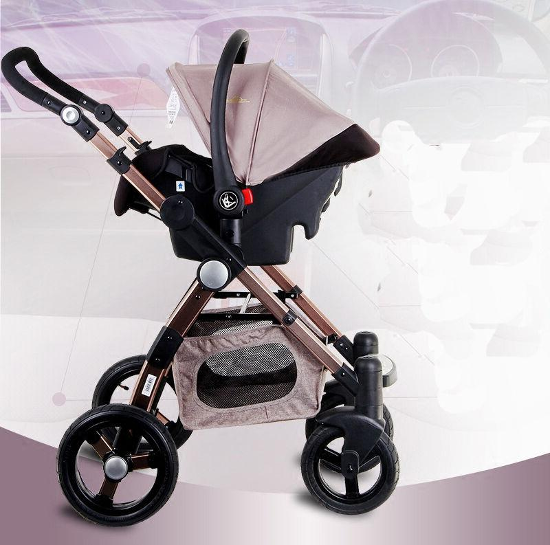 Luxury 3 Foldable Stroller View Seat