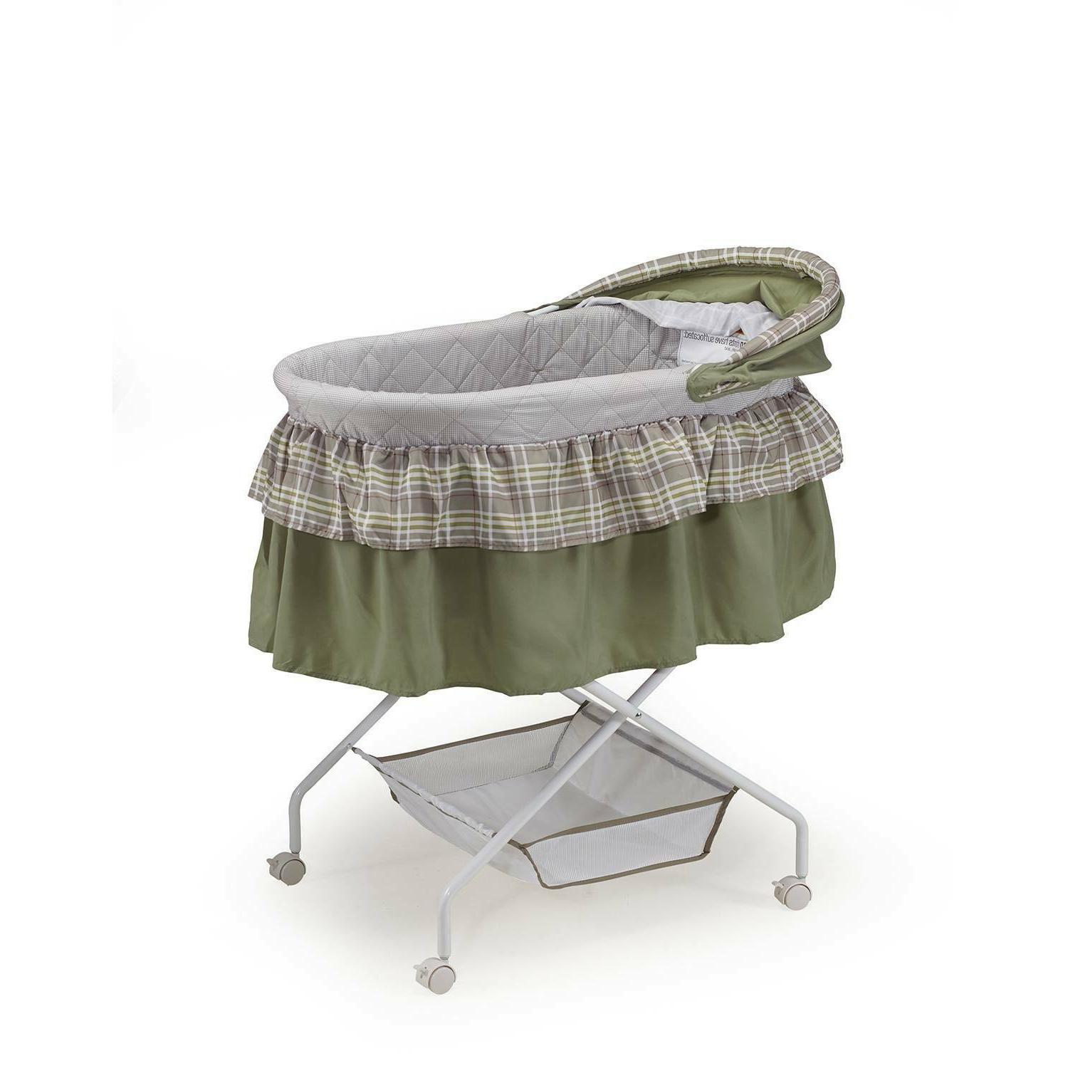 Big Oshi Madison Baby Bassinet with Removable Green