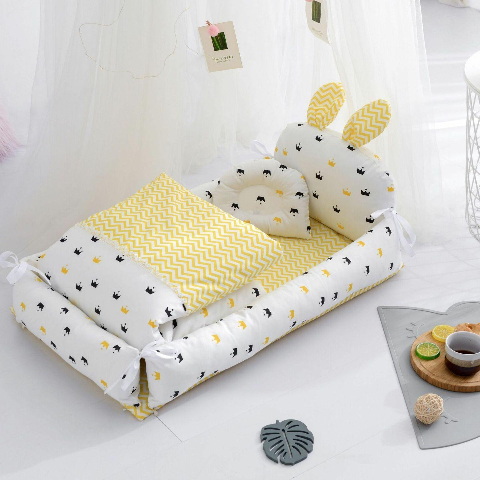 Newborn Lounger Portable Baby Cot With