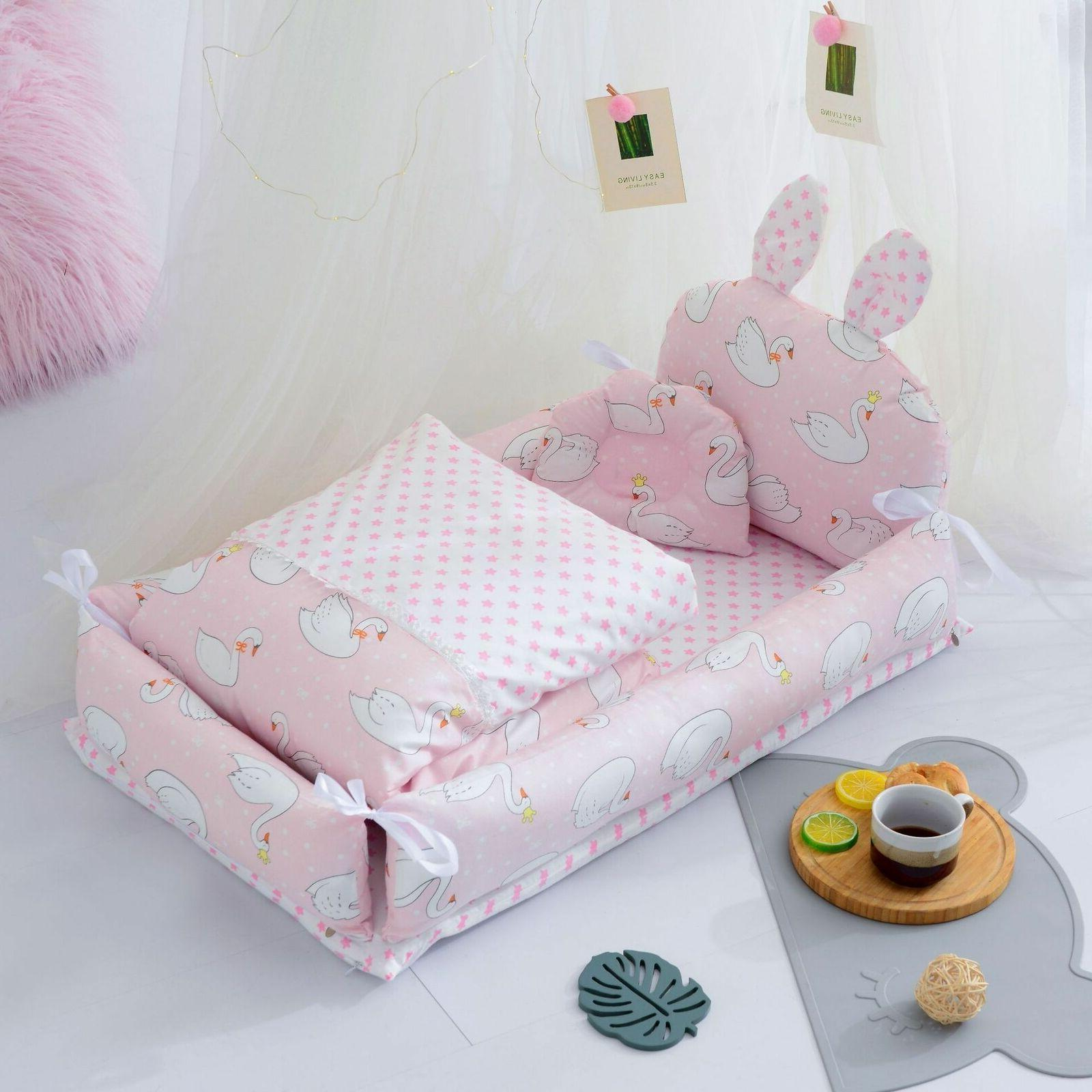 Newborn Nest Lounger Portable Baby Cot With