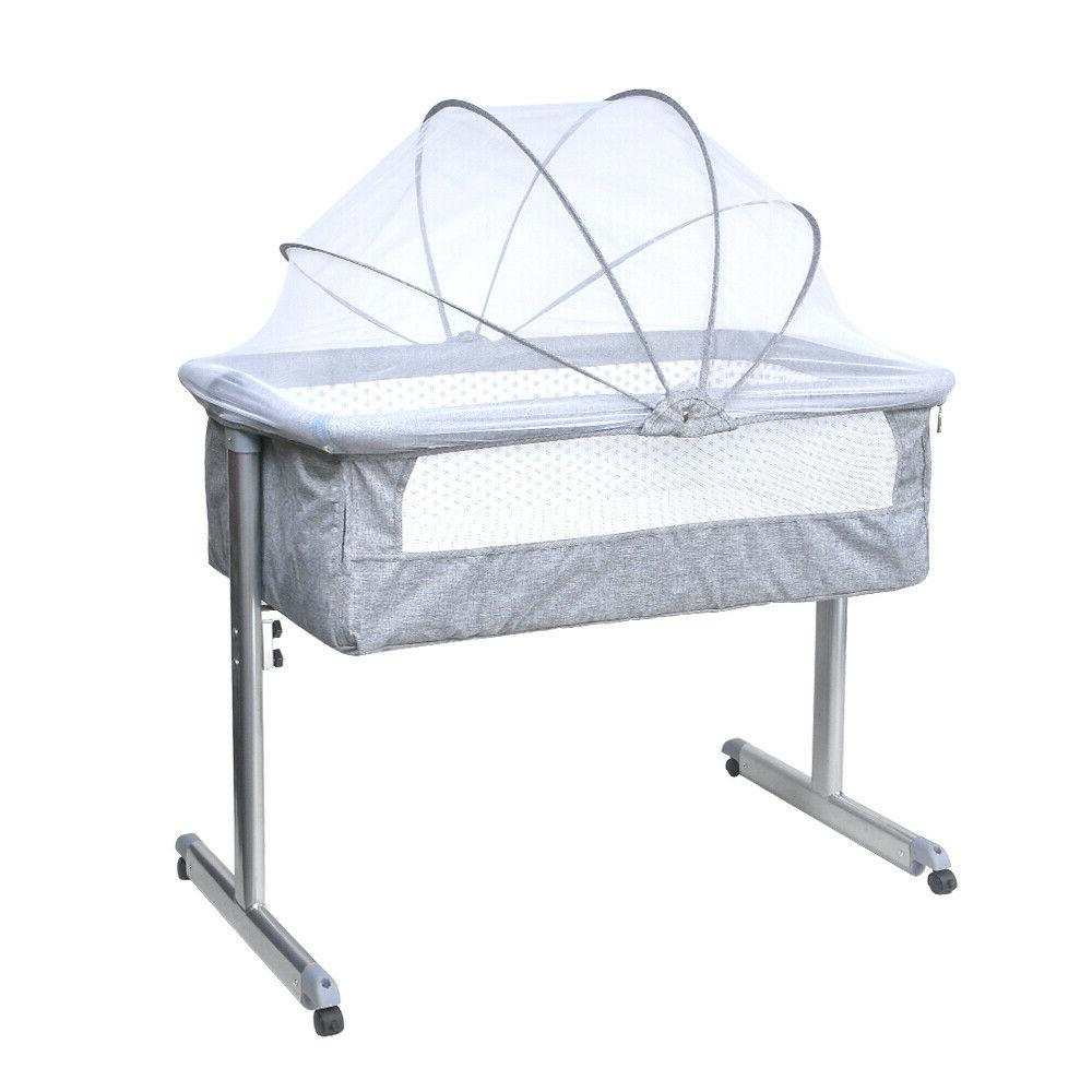 Portable Bed Sleeper Infant Travel Crib Grey