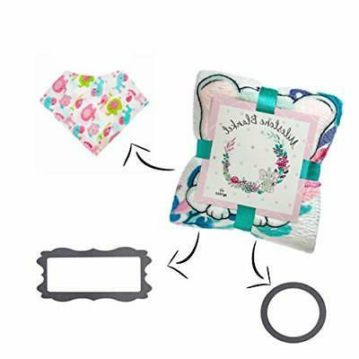 Reveli Products Baby Monthly Milestone Blanket and Floral Design |