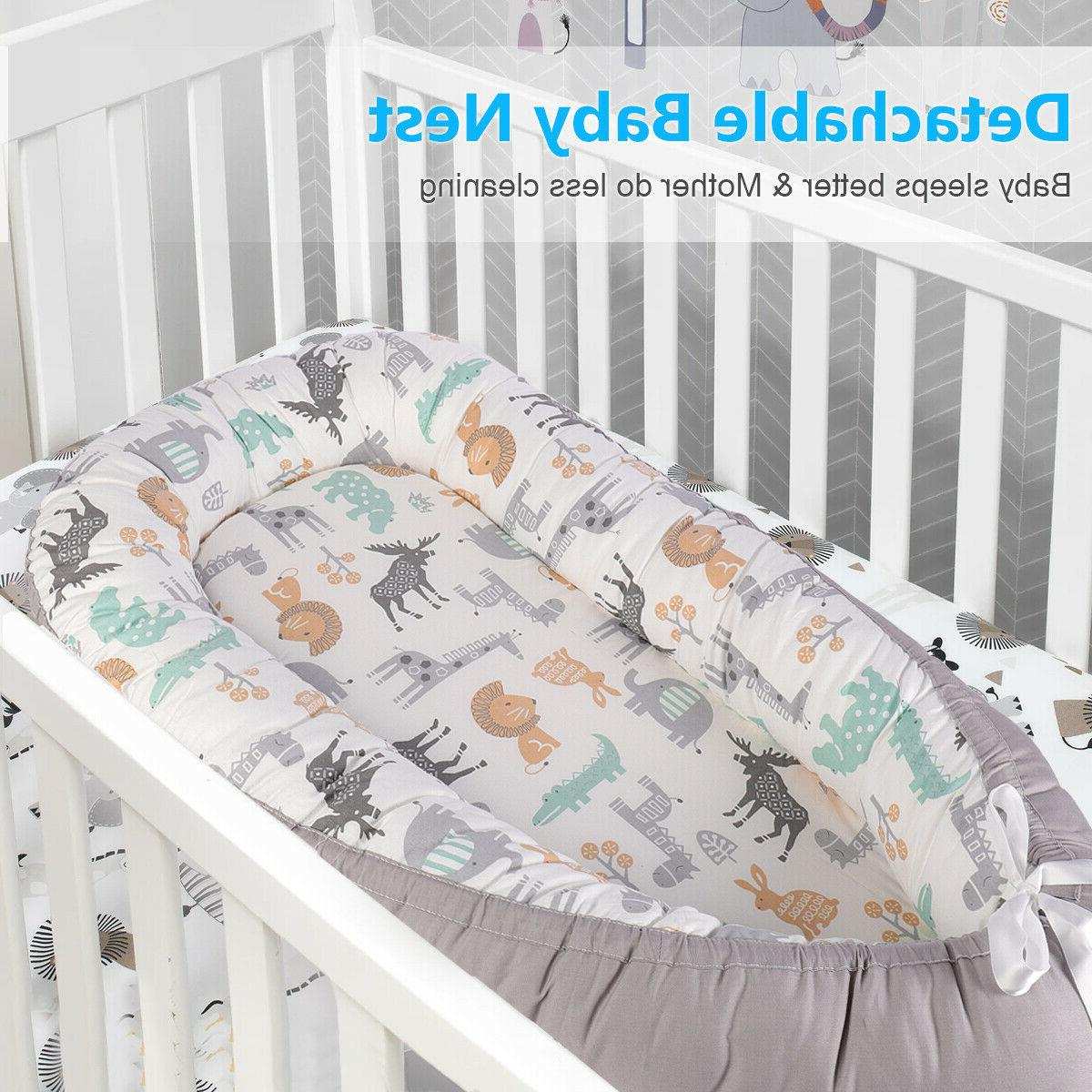 Soft Baby Nest Bed Detachable Newborn for 0-24 Month