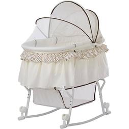 Dream On Me Lacy Portable 2-in-1 Bassinet And Cradle, Cream