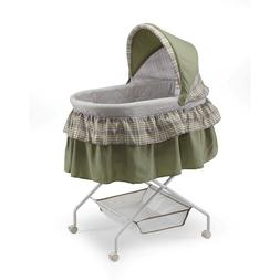 madison baby bassinet with removable canopy green