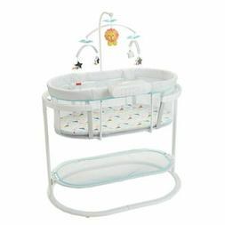 NEW FISHER PRICE SOOTHING MOTIONS BASSINET LIGHTS MUSIC VIBR