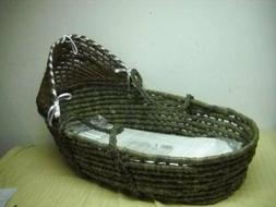 New Badger Basket MOSES BASKET with Canopy NO BEDDING SHEETS