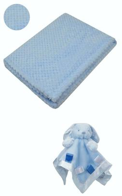 Personalised  embroidered BABY WAFFLE BLANKET gift set 3 col