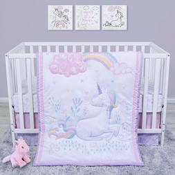 Trend Lab Sammy and Lou Sweet Unicorn 4 Piece Baby Nursery C
