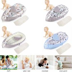Soft Cotton Baby Lounger Baby Nest Bed Detachable Newborn Cr